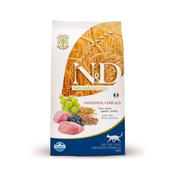 N&D Low Grain Adult Cat Miel si Afine 10 kg + cadou 1 x ulei somon salbatic Nutrivet 250 ml